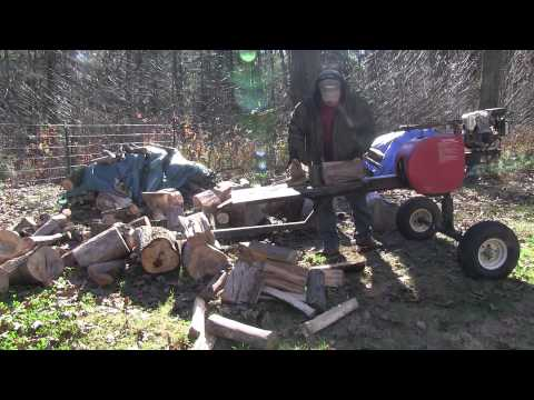 Super Split Wood Splitter With Home-Made Axle and Wood Tray