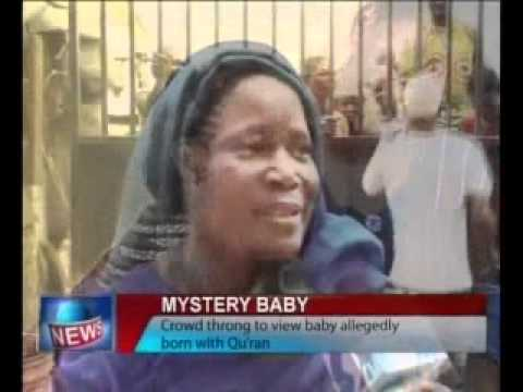 Miracle - Crowd throng to  NEWS ABOUT BAYBE BORN WITH QURAN IN CRISTAN FAMILY 12/5/2012 ALLAHU AKBER