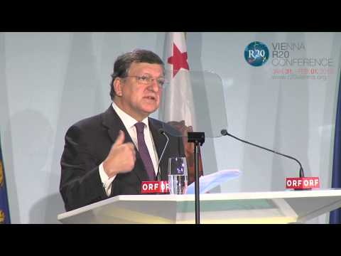 Keynote Speech José Manuel Barroso, Vienna R20 Conference 2013