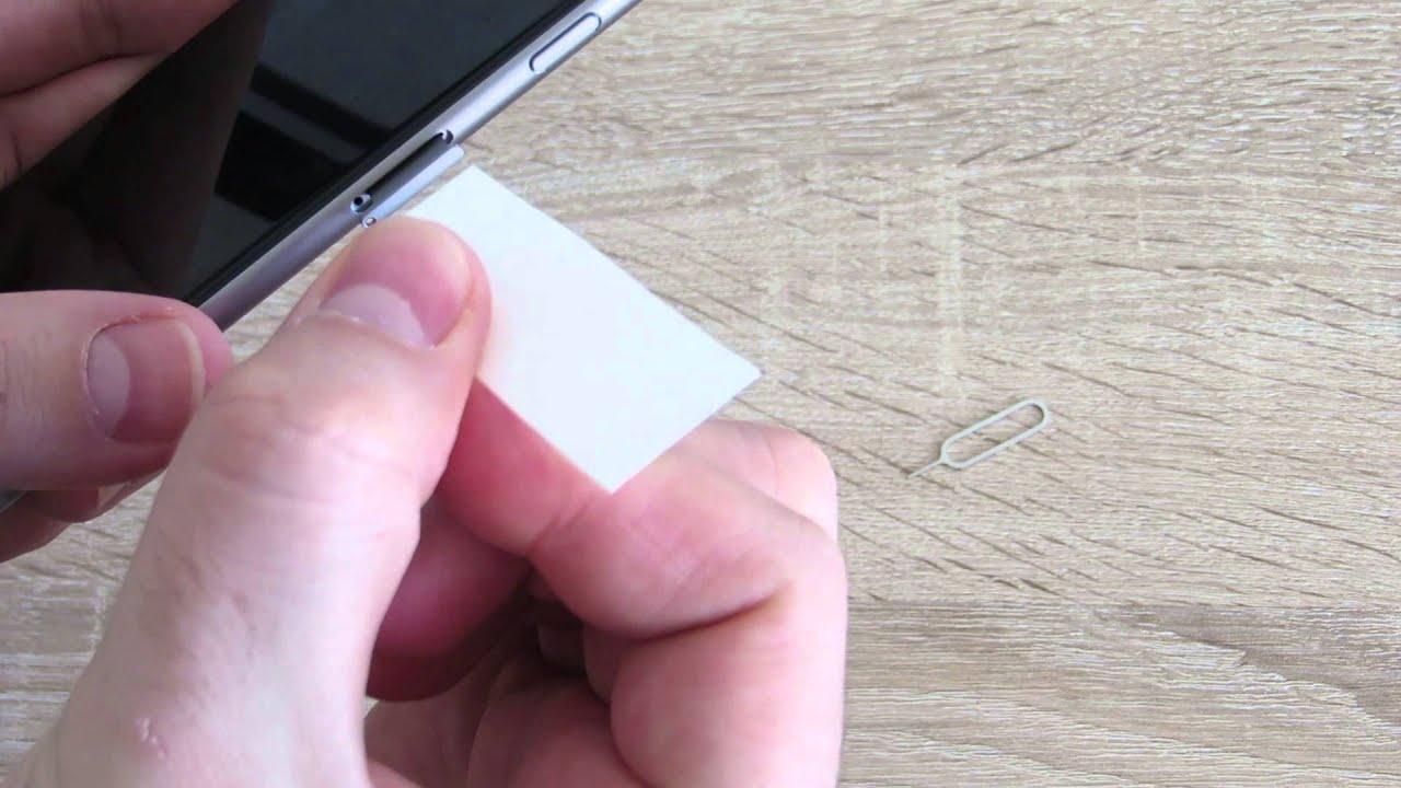 как вытащить симку с 5 айфона видео