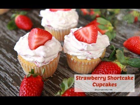 Easy Strawberry Shortcake Cupcakes Recipe