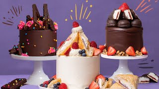 These Cakes Are STUFFED With Cosmic Brownies & Jos Louis | How To Cake It With Yolanda Gampp