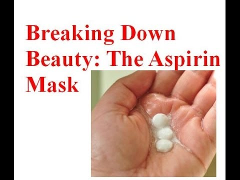 Cure Acne with The Aspirin Mask