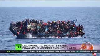 Over 700 migrants feared dead in Mediterranean shipwrecks this week - UN