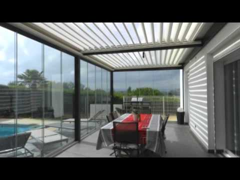 ouvertures du soleil pergola lames orientables solisysteme r alisations 2012 youtube. Black Bedroom Furniture Sets. Home Design Ideas
