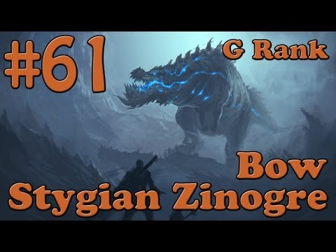 Let's Play MH3U Part 61 - Stygian Zinogre. G Rank [Solo] [Bow]