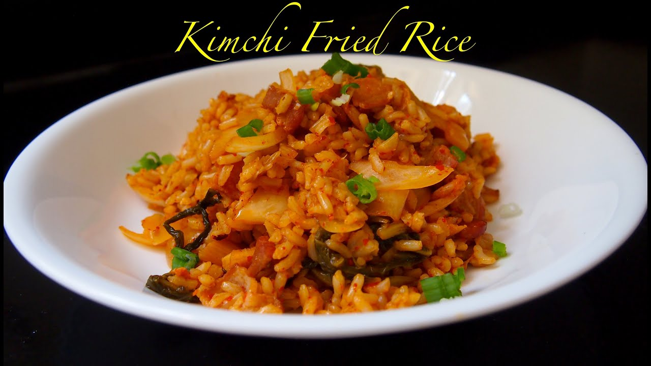 KOREAN FOOD Easy Kimchi Fried Rice Recipe - YouTube