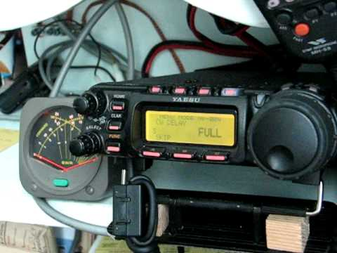 Yaesu FT-857D CW operation and menu demonstration