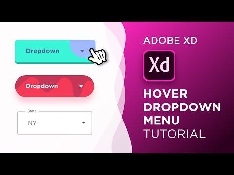 Hover Dropdown Menu Animations in Adobe Xd | Design Weekly
