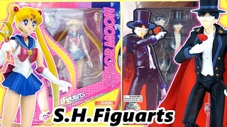 Sailor Moon & Tuxedo Mask S.H.Figuarts Anime Figure Unboxing and Review