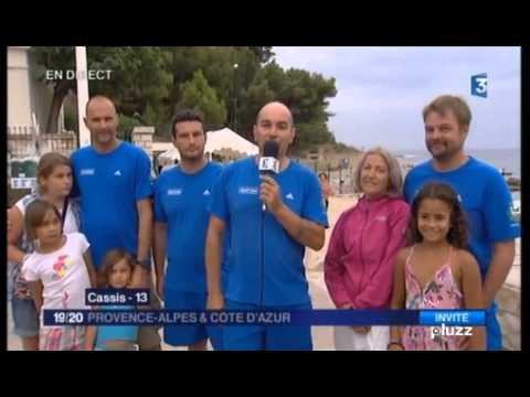 Reportage tv F3 traversée Ajaccio/Cassis à la nage