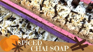 Making Of Pumpkin Spiced Chai Latte Cold Process Soap Made With Tea  | ☕️ GYPSYFAE CREATIONS