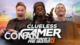 """Clueless Gamer: """"Tony Hawk's Pro Skater 5"""" With Tony Hawk & Lil Wayne  - CONAN on TBS"""