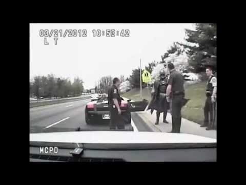 Batman gets pulled over by Police [FULL VIDEO] with Audio, in Montgomery County MD.