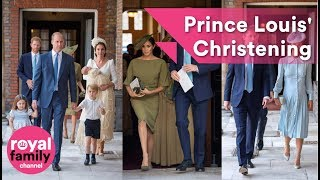 The Royal Family and guests arrive for Prince Louis' Christening