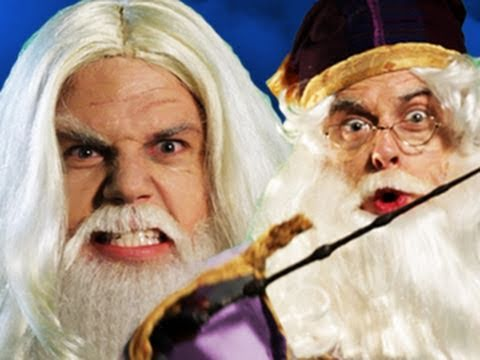 Gandalf vs Dumbledore.  Epic Rap Battles of History #11