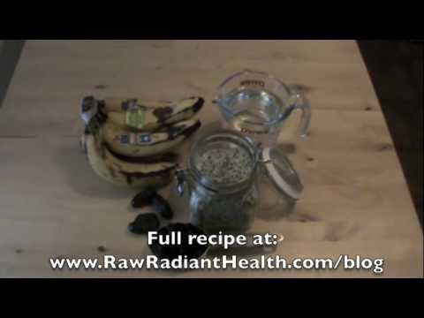 Omega 3 Raw Vegan Blueberry Milkshake Recipe, Ep135