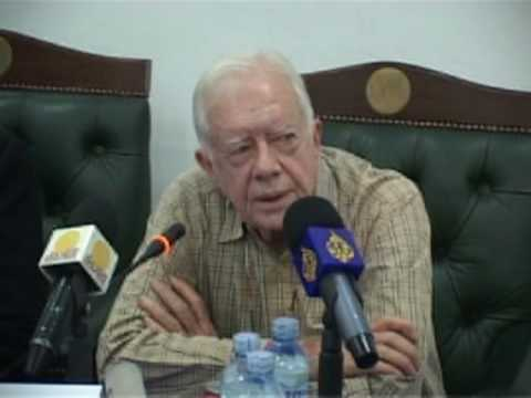 Former US President Jimmy Carter appeals for peace in Sudan as it prepares for elections