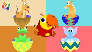 Learn Animals With Surprise Eggs For Kids & Babies | Funny Animal Videos For Children by BabyFirst