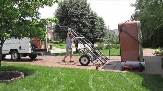 The Spa Guy Moving Series One Man Moves 7x7 Artesian Spa Off Deck to another house