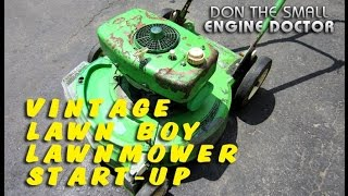 Start-Up Of An Old Lawnboy Lawnmower