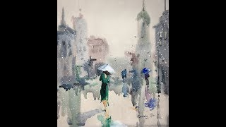 Easy Watercolor-RAIN-Watercolor professional painting