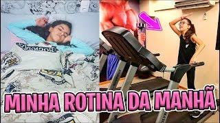 MINHA ROTINA DA MANHÃ - PELA PRIMEIRA VEZ NA ACADEMIA