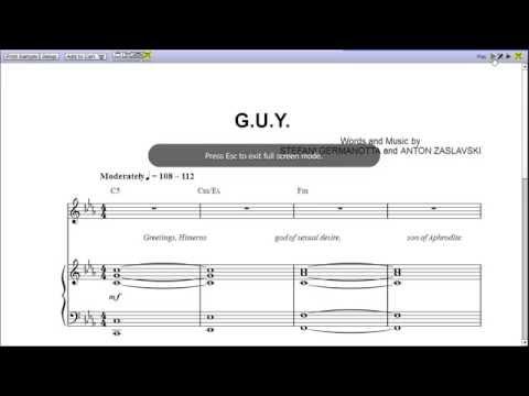 G.U.Y by Lady Gaga - Piano Sheet Music :Teaser