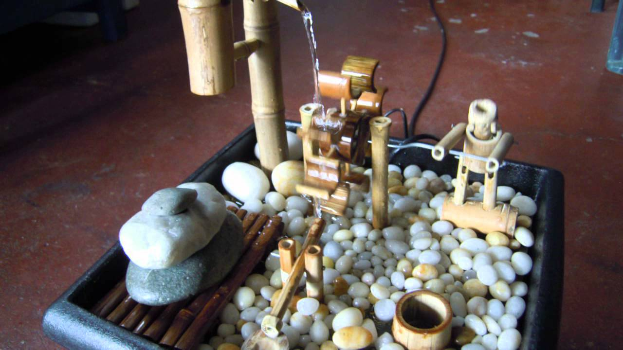 Fuente con bamb feng shui youtube - Fuente de agua feng shui ...