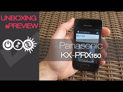 Panasonic KX-PRX150 Android Smartphone Unboxing & Preview