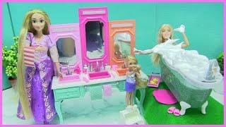 Đẹp! Phòng Tắm Mới Của Búp Bê Barbie ( Trọn Bộ có bồn tắm, chậu rữa mặt, gương.. ) đồ chơi trẻ
