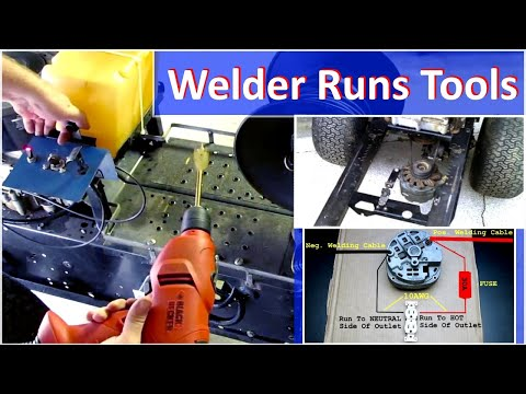 Homemade Welder Runs 120v Power Tools - How To