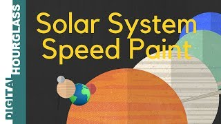 Solar System speed paint with MS paint