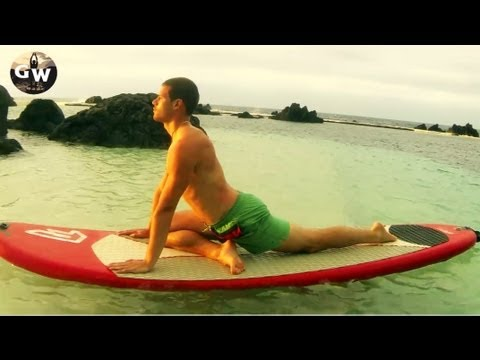 SUP Specific YOGA Routine with Gareth William in Porto Moniz MADEIRA Island Stand Up Paddling