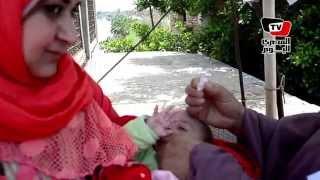 حملة لتطعيم الأطفال على الطريق السريع بالمنصورة