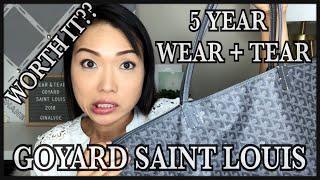 GOYARD | ST. LOUIS WORTH IT? 5 YEAR WEAR + TEAR | GINALVOE