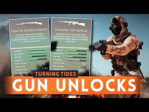 ► HOW TO UNLOCK NEW TURNING TIDES DLC WEAPONS! - Battlefield 1 Turning Tides (Weapon Assignments)