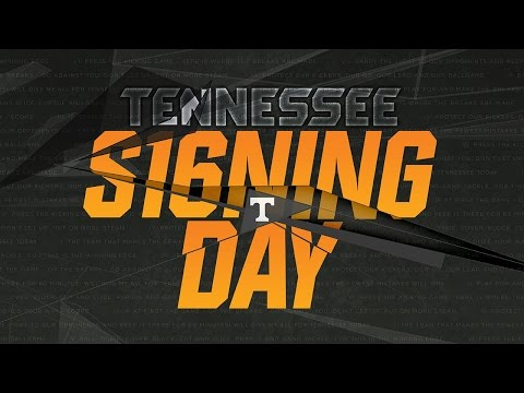 Tennessee Signing Day '16