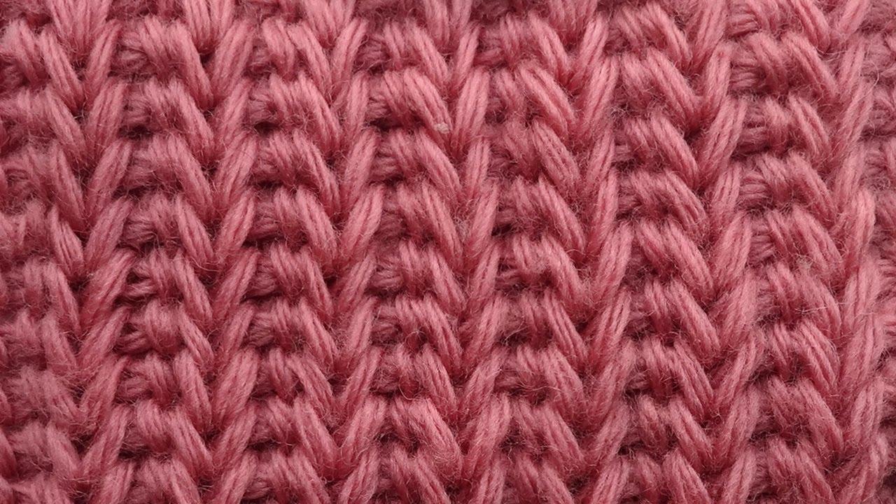 Вязание тунисское резинка