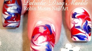 No Water Needed - 4th of July Marble Nail Art Tutorial