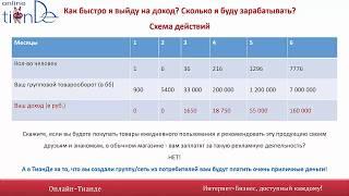 """Бизнес-презентация интернет-проекта """"ОНЛАЙН-ТИАНДЕ"""""""