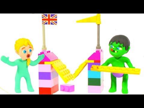 SUPERHERO BABIES BUILD A BRIDGE TOGETHER ❤ Superhero Babies Play Doh Cartoons For Kids