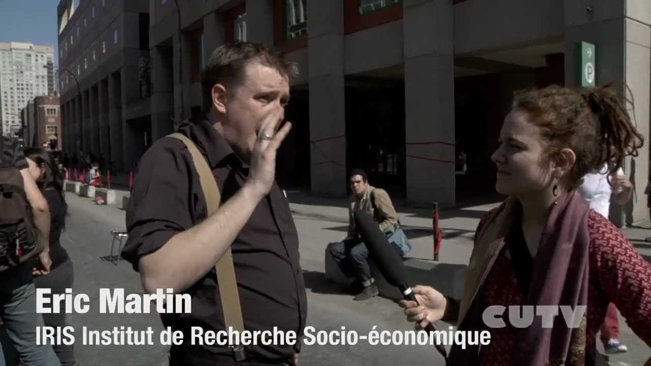 Concordia Strike Street Party Eric Martin interview