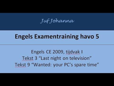 Examentraining Engels Havo 2009 I Tekst 3 En 9