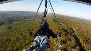 Hang Gliding - Flight 22 at Lookout Mountain - First Hour Long Flight (Unedited)