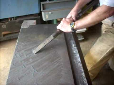 Metal Scraping Jointer Table Youtube