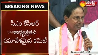 CM KCR Press Meet | TRS manifesto - Sakshi TV