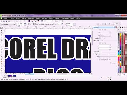 Aprenda a fazer contorno de letras e objetos no Corel Draw
