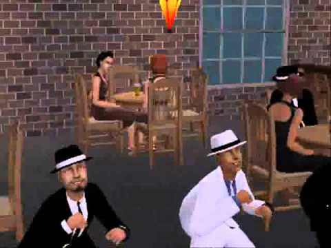 Micheal Jackson Smooth Criminal Sims 2 video