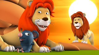 Chuhe Ka Dost Raja Sher 3D Animated Hindi Moral Stories for Kids शेर और चूहे कहानी Lion Rat Tales
